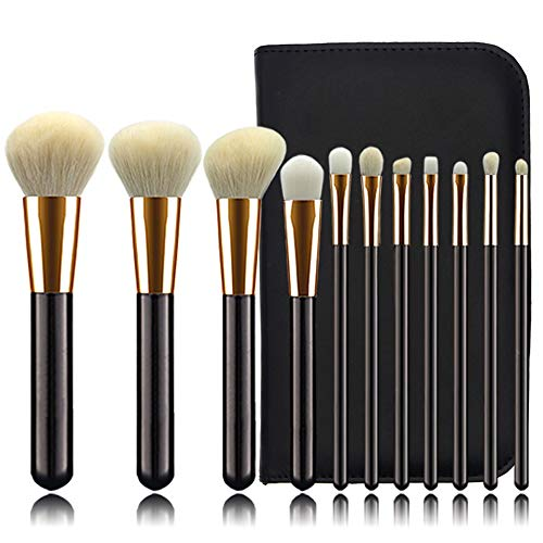 Pinceaux Pinceaux de maquillage Set 11 PCS Poudre Fond de teint Pinceau Concealer Ombre À Paupières Eyeliner Pinceau Sourcils Beauté du visage