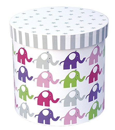Aufbewahrungsbox rund Rosa Elefant von JaBaDaBaDo aus Schweden
