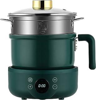 Elektrische hete pot met brander, elektrische koekenpan met antiaanbaklaag, elektrische Shabu Shabu-pan, gesplitste elektr...