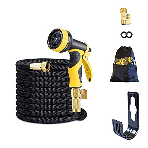 Ninjah 30m/100ft Expandable Garden Hose Pipe, Flexible and Expanding Water...