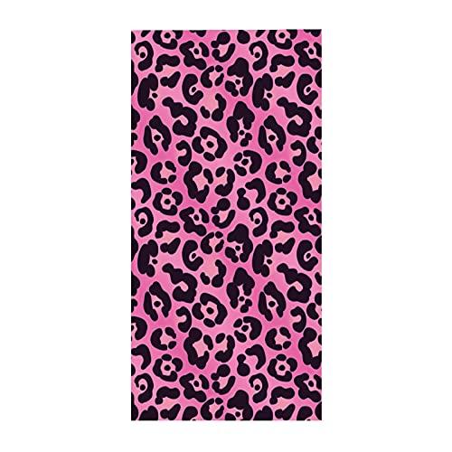 Stillshine. Toalla de Playa Grande de Microfibra, 3D Vistoso Sexy Leopardo Impresión Motivo Manta Absorbente Secado Rápido Toalla de Baño Unisexo (Color 5,75 × 150 cm)