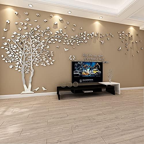 ENCOFT 3D Pegatina de Árbol Vinilos Hojas 150 * 300 cm, Adhesivo Decorativo de Pared para Dormitorio Hogar Oficina