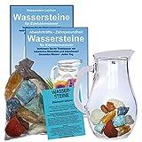 EDELSTEIN WASSER VERDAUUNG & STOFFWECHSEL 5-tlg SET. 300g WASSERSTEINE zur