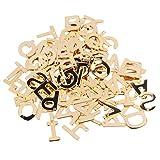 MILISTEN 100 colgantes de letras ABC de acero inoxidable para pulseras y collares