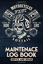 FXST Softail Motorcycle Maintenance Log Book - Service and Repair: American Motorcycle Harley Davdison FXST Softail motorcycle,  Live To Ride #13 ... Biker Gear, 114 Pages of Service Repair Notes