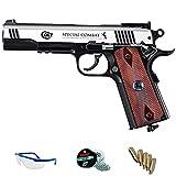 PACK pistola de aire comprimido Umarex Colt Special Combat - Arma de CO2 y balines BBs (perdigones de acero) full metal