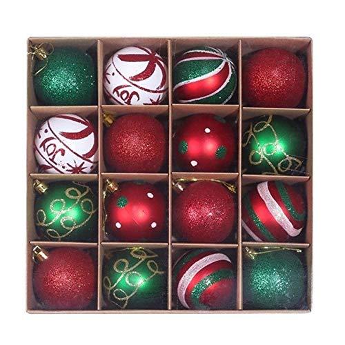 ZHANGAIGUO Christmas Baubles, PVC Shatterproof Christmas Ball Ornaments Decoration for Christmas Tree Decor, for Home Pendant Box - 16pcs 6cm (Color : Style 4, Size : 6cm)