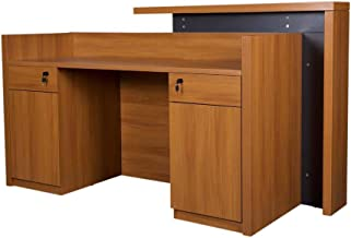 Mahmayi Zelda Modern Reception Desk, Brown, ZD26R011MRD