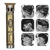 Outliner électrique Toilettage, LIDIWEE 0mm Tondeuses à tête chauve Rechargeable Sans fil Coupe étroite T-Blade Tondeuse pour hommes Barbe Rasoir Salon de coiffure