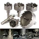 FYYONG DIY Perforar 22 a 65 mm Brocas de carburo agujero consideró cortador 6pcs accesorios del taladro
