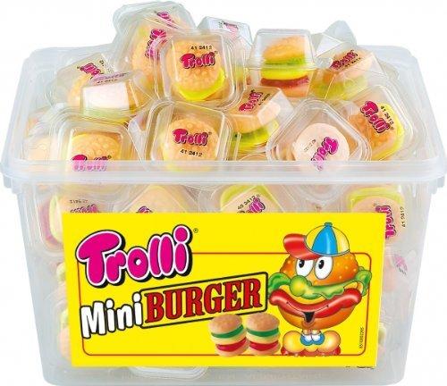 Trolli Mini Burger mehrschichtige Burger aus Schaumzucker und Fruchtgummi 600g