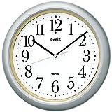 セイコー クロック 掛け時計 電波 アナログ PYXIS ピクシス 銀色 メタリック NA205S SEIKO
