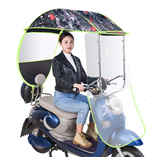 ZYQDRZ Sombrilla De Bicicleta Eléctrica De Propósito General, Sombra De Scooter Y Cubierta De Lluvia De Protección Solar, Visera Solar, Scooter Impermeable E Impermeable,D