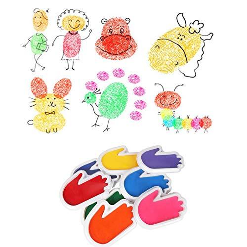 8 almohadillas de tinta para niños, para tinta, graffiti, palma de la mano, almohadilla de tinta, almohadilla de tinta lavable para padres e hijos.