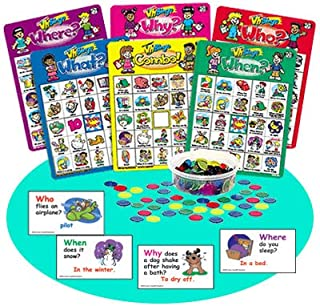 Super Duper Publications Ask & Answer Wh Bingo Comprehension & Communication Game Educational Learning Resource for Children
