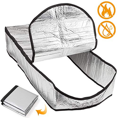 """Attic Stairs Insulation Cover for Pull Down Stair - 25"""" X 54"""" X 11"""" Class A Fireproof, Attic Stairway Insulator, Energy Saving Door Blanket, Ladder Hatch Tent, Insulated Stairs, Easy Access Zipper"""