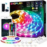 SHOPLED 16.4ft Smart WiFi LED Strip Lights with Alexa Tuya Smart, APP Control, Music Sync, 16 Million RGB Color Changing led Lights for Bedroom, Ceiling, Kitchen, Bar, Party, for iOS and Android