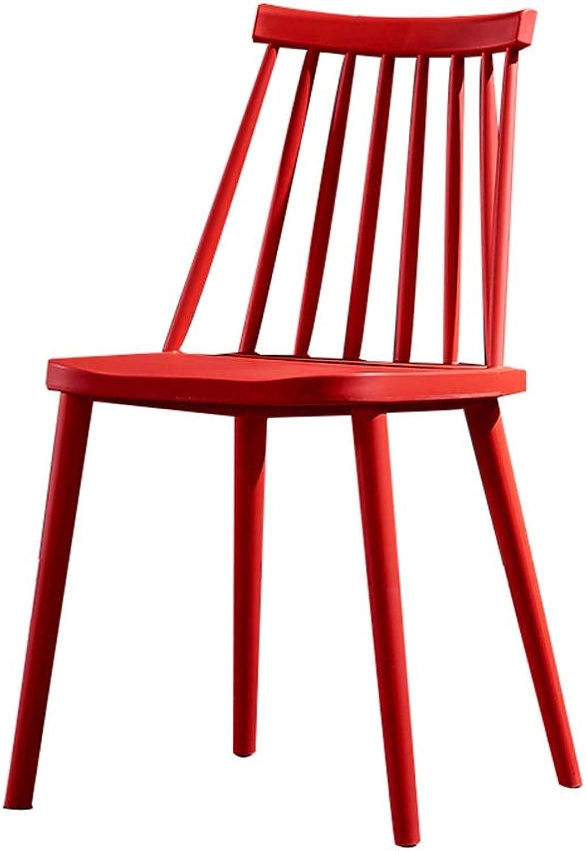 AGL-Bathroom Stools Chair Multipurpose Plastic Backrest Non-Slip Modern Creative Leisure Restaurant Lazy Chair,Multiple Colour (color   Red, Size   41X45X45CM)