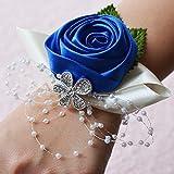 weichuang Pulsera decorativa para la muñeca de la boda, con diseño de flores rosas de seda para novia, ramillete de novia, para cortina de dama de honor, color 5