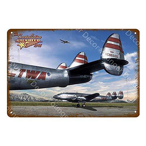 Shovv Metalen plaat Amerikaanse stijl vliegtuigvechter metalen borden vliegtuig muursticker vintage schilderij poster pub bar room huis decoratie