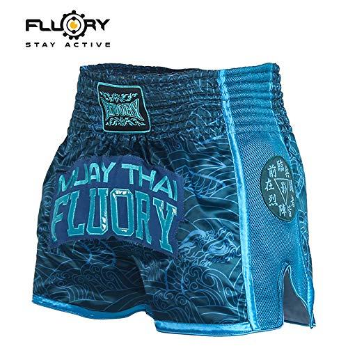 FLUORY Pantalones cortos de Muay Thai, resistentes al
