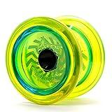 YOYO FACTORY YoyoFactory Arrow Yo-Yo - Giallo (dal Principiante al Professionista, Cuscinetto a Sfera, Corda e Istruzioni Incluse)