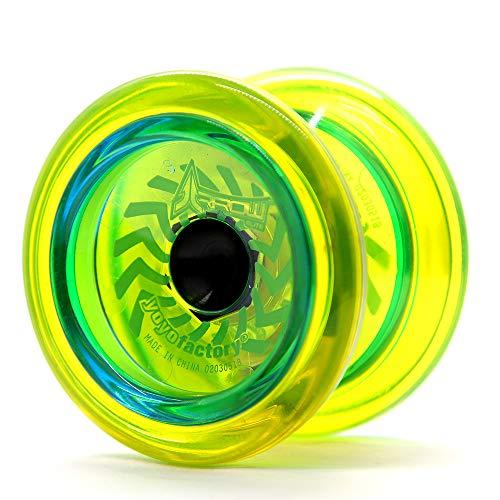 YoyoFactory Arrow Yo-Yo Mit Extra Kugellager Und Schnur - GELB (Vom Anfänger Zum Profi, Moderne Leistung YoYo, Metall Kugellager, Schnur und Anleitung Enthalten)