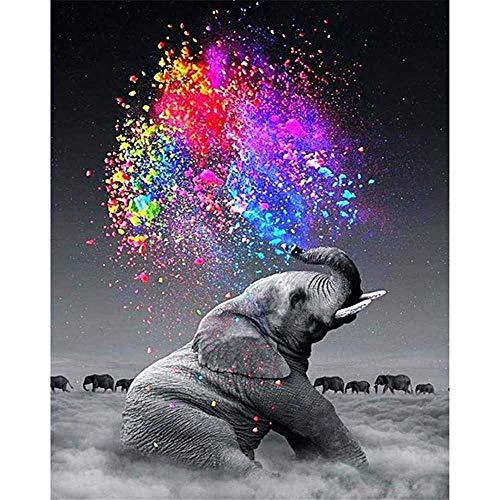 nobrand Wolkenelefant Zigaretten Tier DIY Digitales Malen Nach Zahlen Moderne Wandkunst Leinwand Malerei Einzigartiges Geschenk Wohnkultur