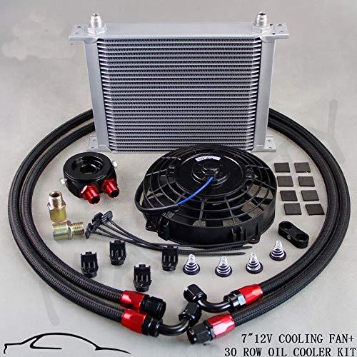 Oil cooler Radiador de Aceite 30 rayas con Ventola .