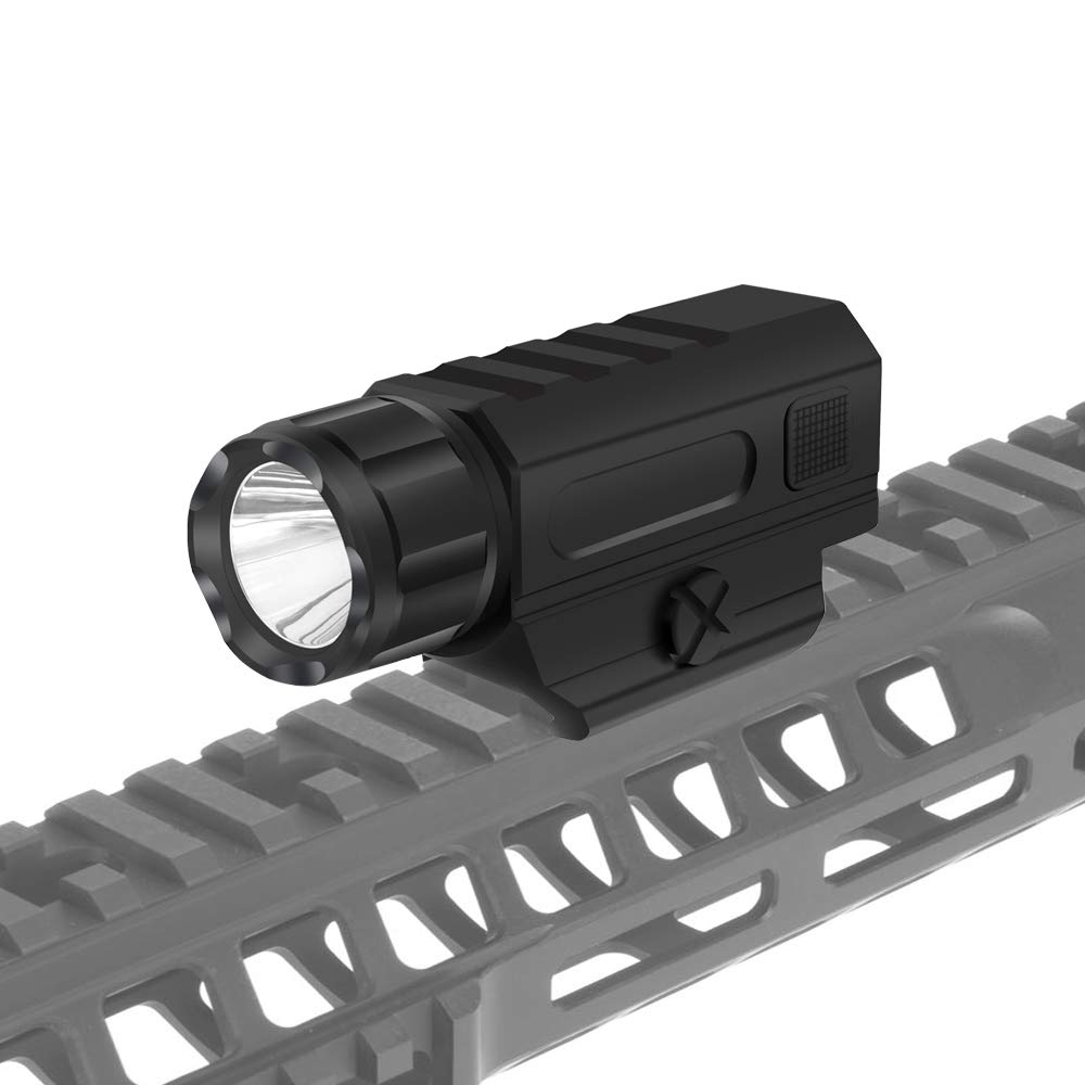Tactical Mounted Flashlight Battery Handgun