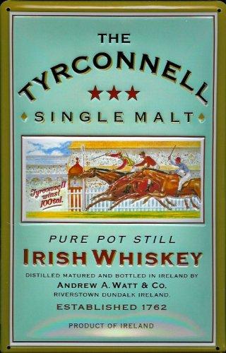 Buddel-Bini Versand Blechschild Nostalgieschild Tyrconnell Whiskey Pferderennen Pferde Retro Schild Werbeschild