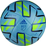 adidas MLS Nativo XXV Club Soccer Ball Samba Blue/Solar Green/Black/Glory Blue 5