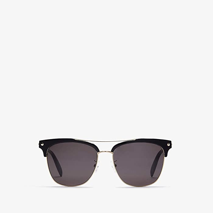 Alexander McQueen  AM0126SKM (Black/Grey) Fashion Sunglasses