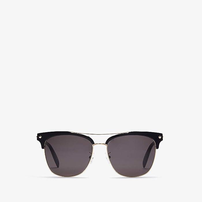 Alexander McQueen  AM0126SKM (Black/Grey) Fashion Sunglasses