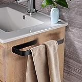 Schwarz Handtuchhalter Ohne Bohren Badezimmer Edelstahl Selbstklebend Handtuchstange
