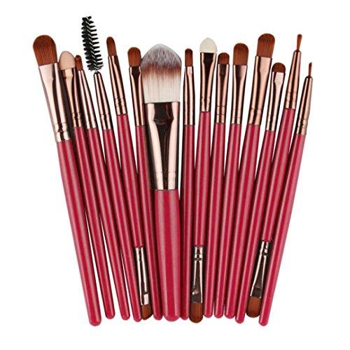 HLHN 15 Stück Schmink Pinsel Set Kabuki Pinsel Set - Rougepinsel, Lidschattenpinsel - Puderpinsel,...