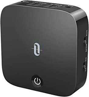 TaoTronics Bluetooth 5.0 Transmitter and Receiver, Digital Optical TOSLINK and 3.5mm Wireless Audio Adapter for TV/Home St...