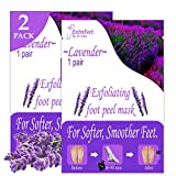 Dr. Entre's Foot Peel | 2 Lavender Pairs | Baby Soft Feet in Just 7 Days, Exfoliating Callus Remover