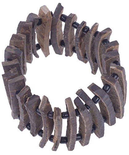 Wildlife Wood Perlen Holz Armreif/Armband Rockabilly