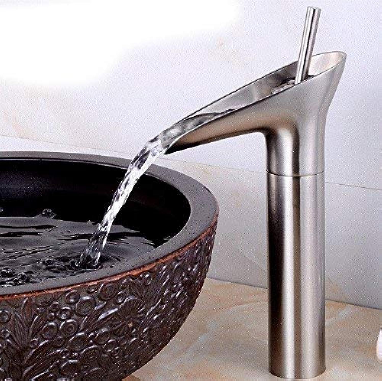 CFHJN Home Warmes und kaltes Waschbecken Einlochmontage-Einhandmixer-Badezimmer-Kupfer-Wannenarmaturen