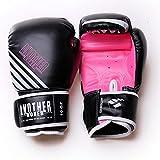 Lsdnlx Guantes de Boxeo,BoxeoAdultos Mujer/Hombre Guantes de Boxeo Cuero MMA Muay