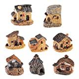 CYSJ Miniatura Hada del jardín Casas de Piedra 8pcs Casa de
