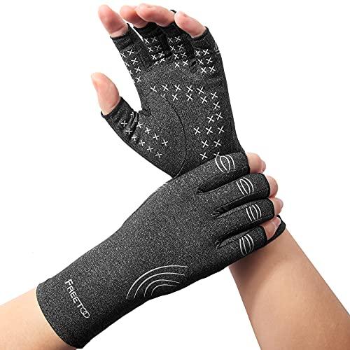 Arthritis Handschuhe, Kompressionshandschuhe für Rheumatoide & Osteoarthritis, Arthrose Handschuhe Fingerlose Handschuhe lindern Schmerzen bei Rheuma, RSI, Karpaltunnel, Gelenkschmerzen Herren Damen M