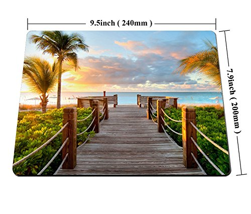 Smooffly Gaming Mouse Pad Custom,Track Palm Trees Beach Sea Ocean Personality Desings Gaming Mouse Pad Photo #6