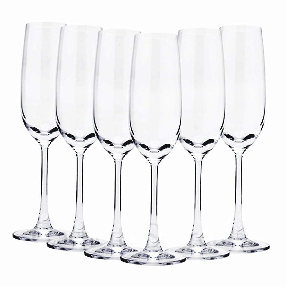 後継フィドル民間人Cachette Secrete (カシェットシークレット) ワイングラス カジュアルシリーズ フルートシャンパーニュ 6脚セット