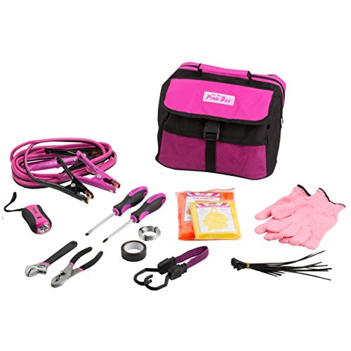 The Original Pink Box PB1EKIT Emergency Roadside Assistance Kit For Vehicles,