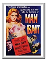 Man Bait Diana Dorsムービープリント1952マグネットメモボードシルバー額入り - 41 x 31 cm(約16 x 12インチ)