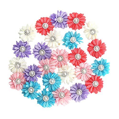 bizofft Diseño de decoración de Forma pequeña, fácil de Usar, Lazos para el Pelo de Mascotas, Flores, Mascotas, Hermosa Variedad para Fiestas, Bodas para Gatos y Mascotas