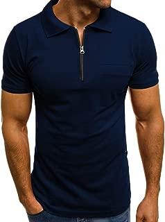 Realdo Polo Shirts for Men,Men's Fashion Personality Casual Slim Short Sleeve Pockets T Shirt Top