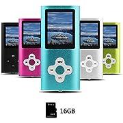 Btopllc MP3-Player, MP4-Player, Digital Music Player 16 GB interne Speicherkarte, tragbare und kompakte MP3/MP4-Musik-Player, Media Player, Video Player, Video, E-Book, Picture Music Player - Blau